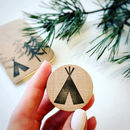 Tipi Teepee Rubber Stamp