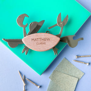 Personalised Crab Multi Tool Kit
