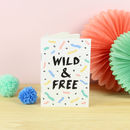 Wild And Free A6 Notebook With Lined Pages