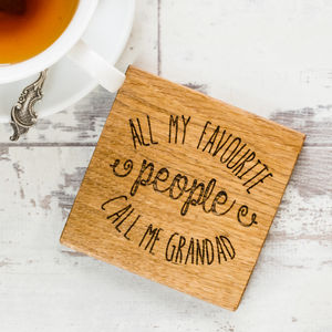 Personalised All My Favourite People Coaster - dining room