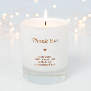 Make A Wish To Say Thank You Candle