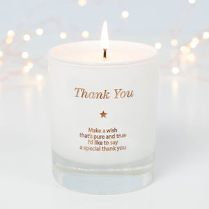 Make A Wish To Say Thank You Candle - occasional supplies