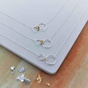 Infinity Family Ring Necklace - personalised jewellery