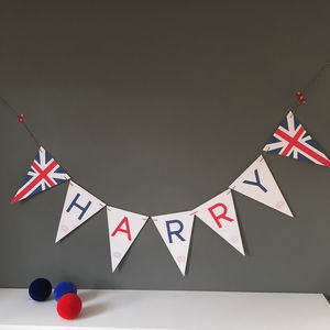 Personalised Union Jack Bunting - bunting & garlands