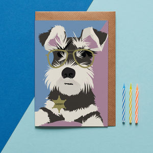 Monty The Schnauzer Birthday Card