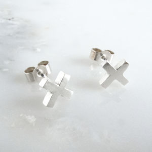 Kisses Cross Earrings