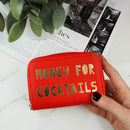 Personalised 'Money For' Leather Purse