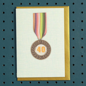 Medal Age Birthday Card