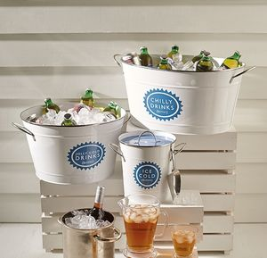 Large Metal Drinks Bucket - drink & barware