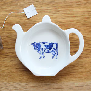 'Cow' Tea Tidy - crockery & chinaware