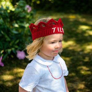 Child's Personalised Crocheted Crown