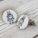 Robot Fabric Cufflinks