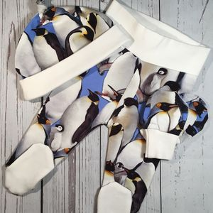 Penguin Print Newborn Gift Set - outfits & sets