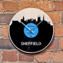 Sheffield Skyline Record Style Clock