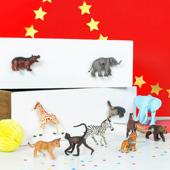Animal Knobs ~ Circus Animal Drawer And Cupboard Knobs