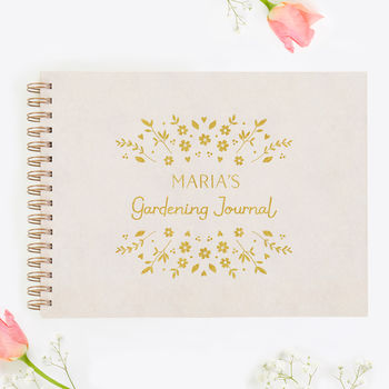 Personalised Gardening Journal Scrap Book