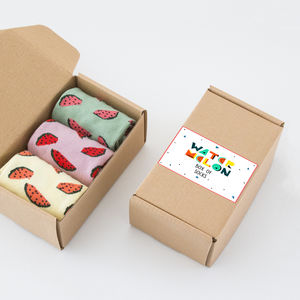 Watermelon Box Of Socks - gifts for friends