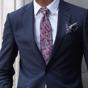 Havardr Woven Silk Tie - men's accessories