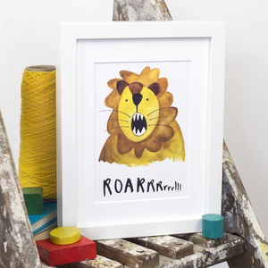 'Roarrrr Lion' Print - pictures & prints for children