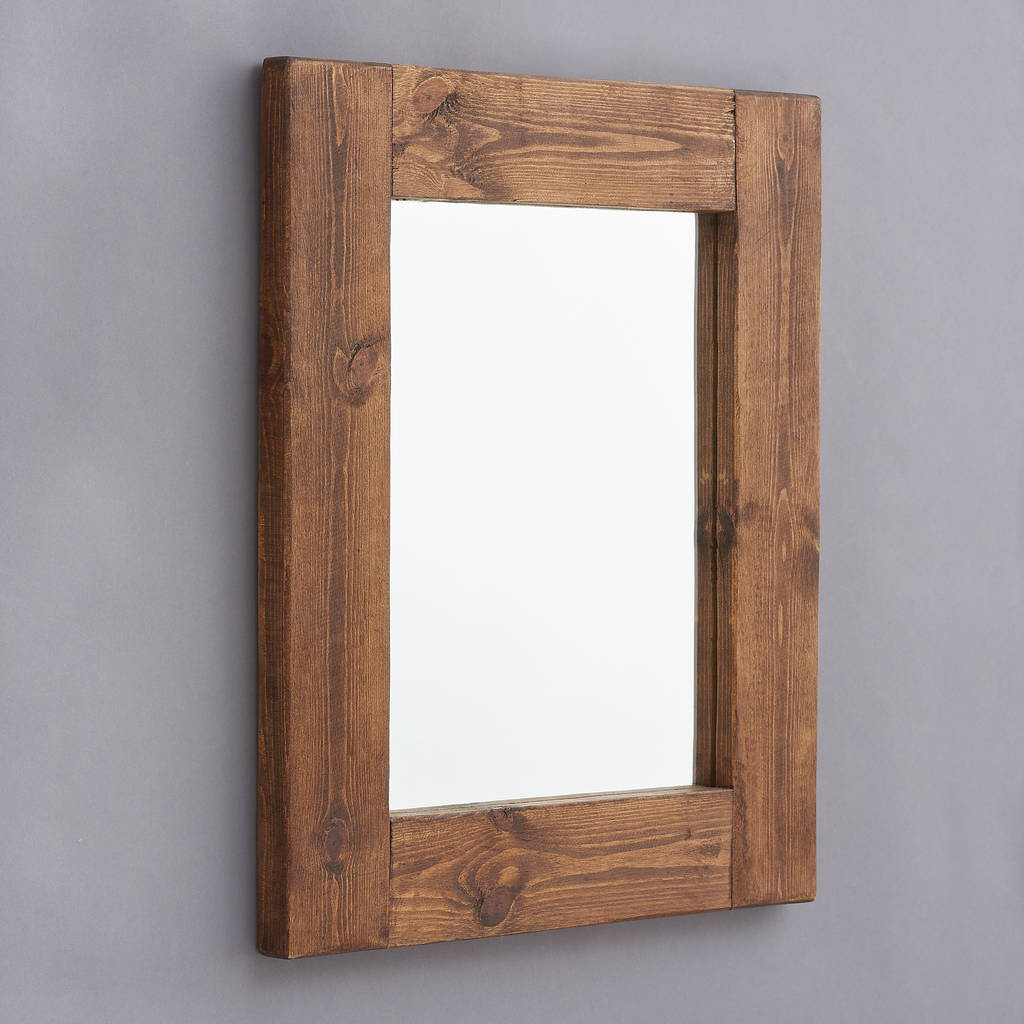 Marvelous Framed Bathroom Mirrors #1: Original_chunky-old-wood-framed-mirrors.jpg