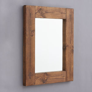 Chunky Old Wood Framed Mirrors