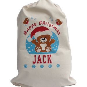 Personalised Baby's Christmas Sack