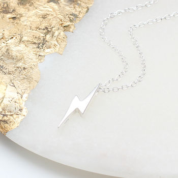 Personalised Sterling Silver Starbolt Necklace