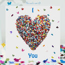 Butterfly Love Card, I Love You Butterfly Heart