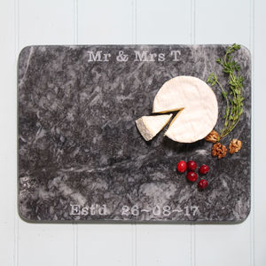 Marble Personalised Board - gifts for couples
