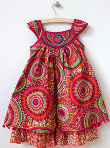 Girl's Layered Cotton Sun Dress - children's dresses