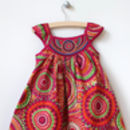 Girl's Layered Cotton Sun Dress