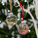 Personalised Best Teacher Christmas Bauble