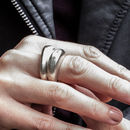 Sterling Silver Stacking Sand Cast Boulder Ring Set