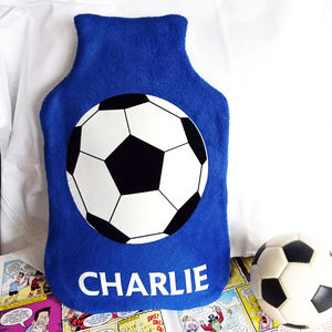 Football Personalised Hot Water Bottle Cover - hot water bottles & covers