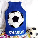 Football Personalised Hot Water Bottle Cover