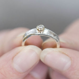 Unusual Diamond Engagement Ring - fine jewellery