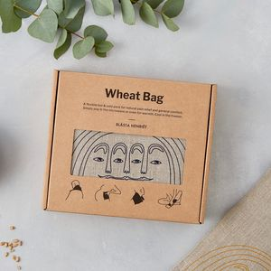 Large Linen Wheat Bag Heat Wrap - bedroom