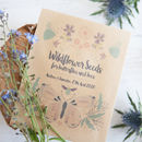10 Butterfly And Bee Personalised Seed Packet Favours