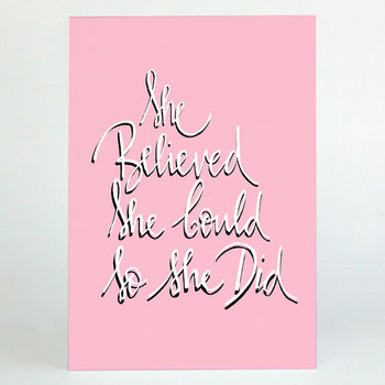 She Believed She Could Graduation Card