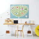 Birds In A Tree Design / Large Magnetic Notice Board