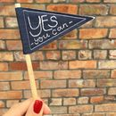 'Yes You Can' Mini Pennant Flag