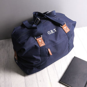 Personalised Vintage Holdall Bag - 30th birthday gifts