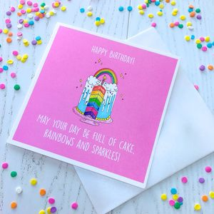 Rainbows And Sprinkles Birthday Greetings Card