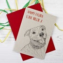 Staffordshire Bull Terrier Easter Card