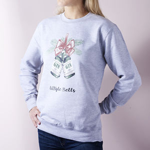 'Gingle Bells' Gin Christmas Jumper - winter sale