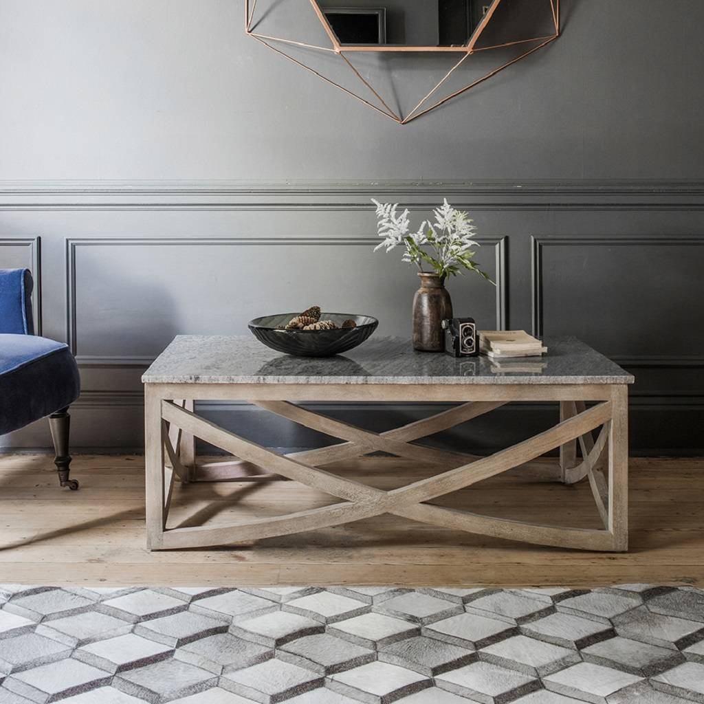 Grey marble coffee table by atkin and thyme for Marble coffee table design
