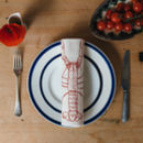 printed red lobster napkin place setting