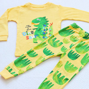 Dinosaur Paw Print Children's Long Sleeves Pyjama Sets - clothing
