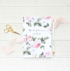 English Garden Maid Of Honour Wedding Notebook Planner - new in wedding styling