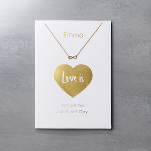 Personalised Valentine's Day Card And Necklace Set - what's new